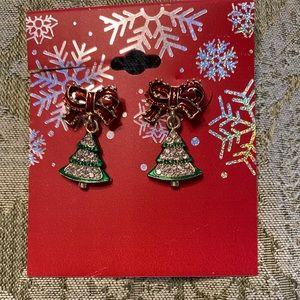 ⚡️NWT! Christmas bow earrings